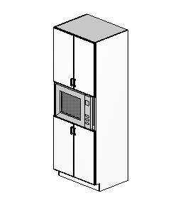 "Microwave cabinets, 84""-96"" heights, 24"" depth"